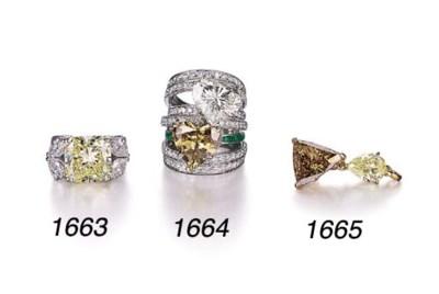 A BROWN DIAMOND, DIAMOND AND E