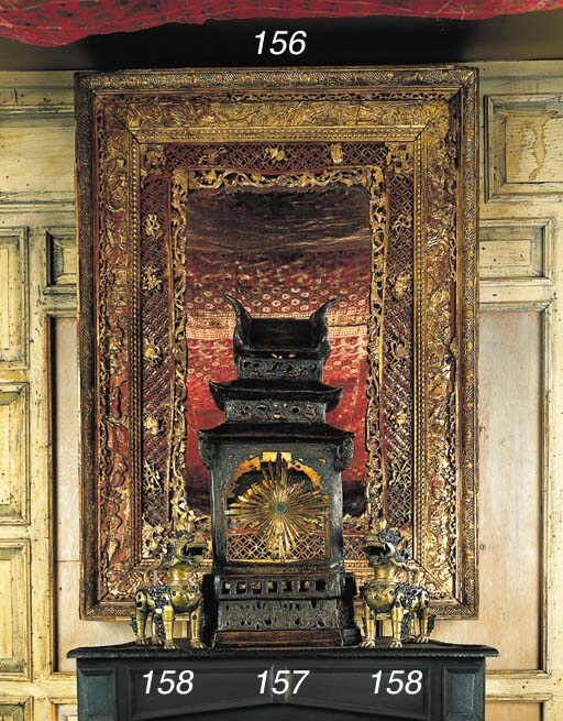 A CHINESE STYLE PARCEL-GILT MI