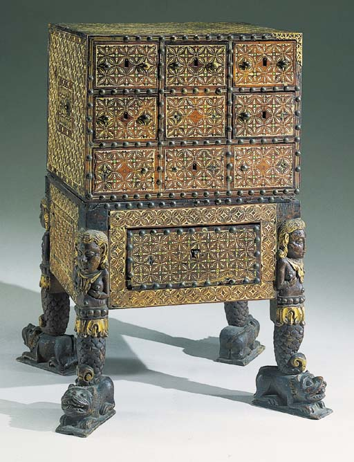 A GOANESE IVORY-INLAID CLOSE-N