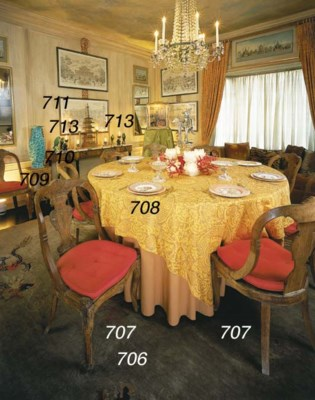 A GROUP OF DECORATIVE TABLE AR