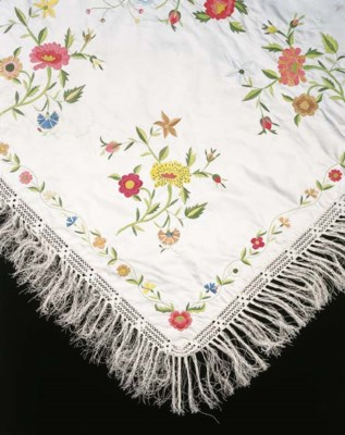 A CHINESE EMBROIDERED COVER