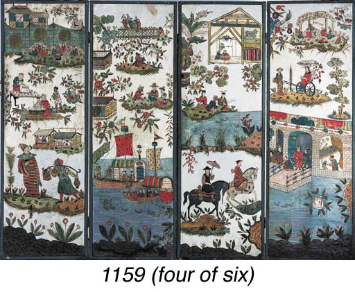 SIX CHINESE EXPORT PANELS
