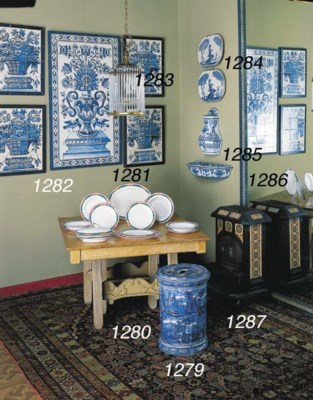 SIX DELFT STYLE BLUE AND WHITE