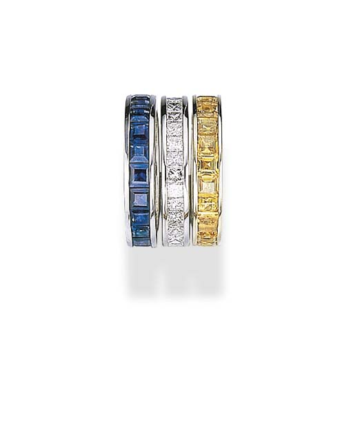 A SET OF ETERNITY BANDS