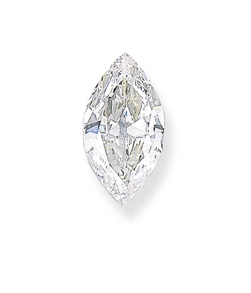 AN UNMOUNTED MARQUISE-CUT DIAM