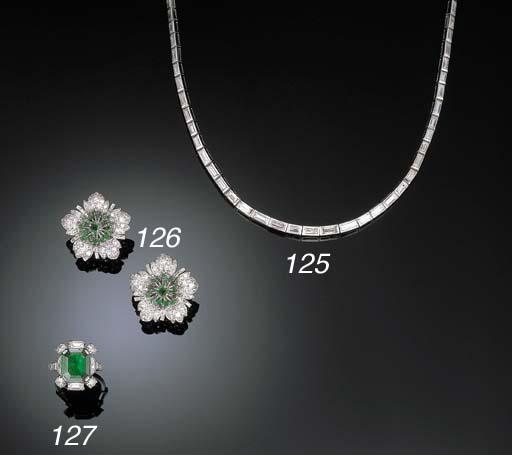 A DIAMOND LINE NECKLACE, BY CH