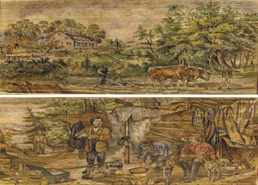 [FORE-EDGE PAINTING.] [IRVING,