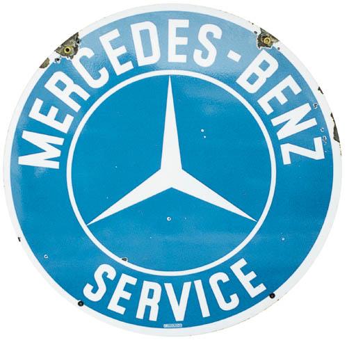 Mercedes-Benz - A service sign