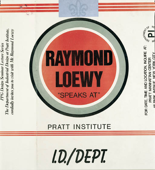 'RAYMOND LOEWY SPEAKS AT PRATT