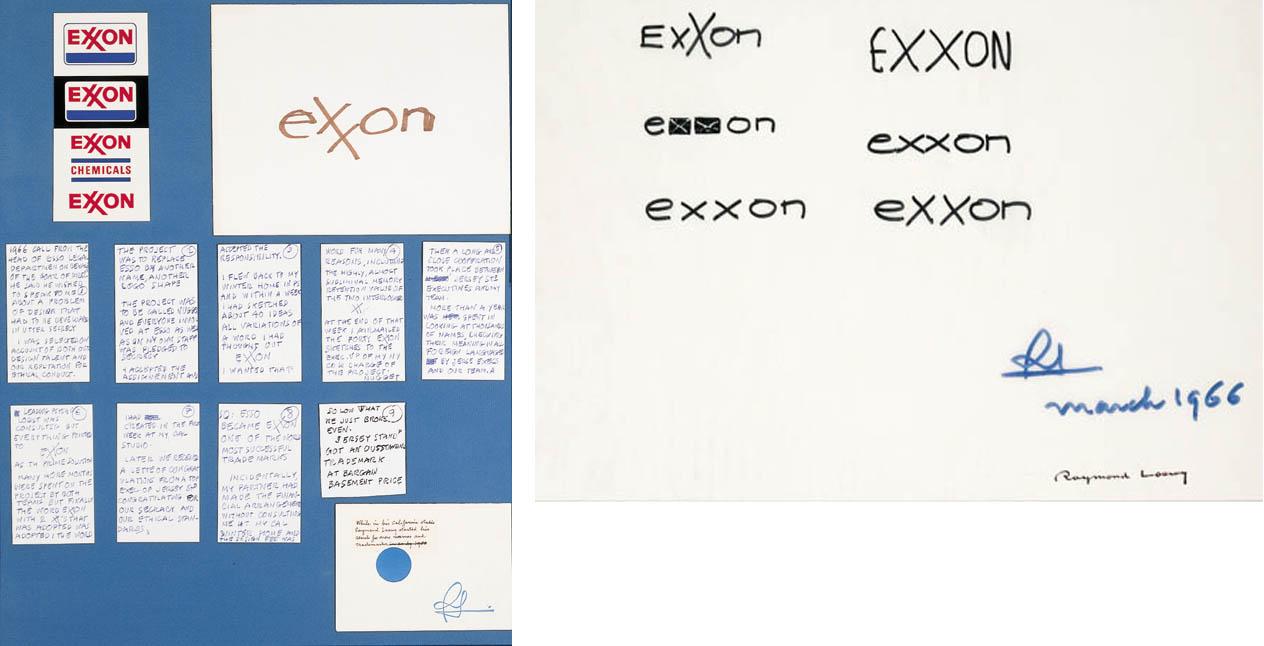 A DESIGN FOR THE EXXON LOGO WI