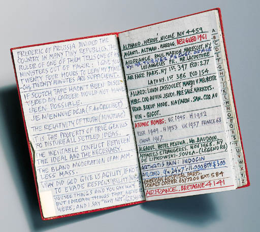 RAYMOND LOEWY'S ADDRESS BOOK