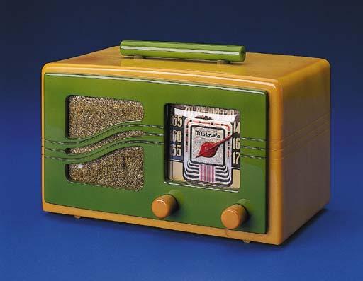 MOTOROLA, Yellow catalin case,