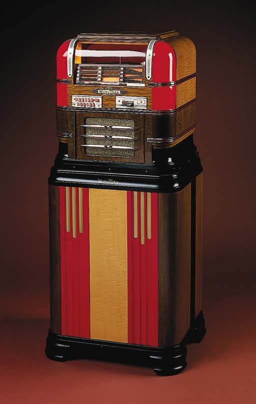 WURLITZER Model 61, 1939, Paul Fuller design, 78 rpm, 12 selections
