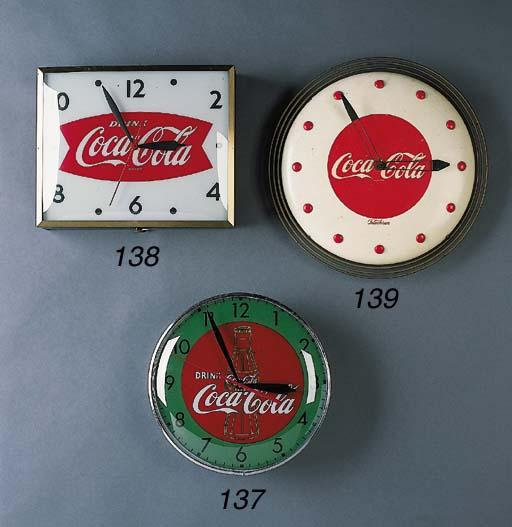 COCA-COLA CLOCK SIGN