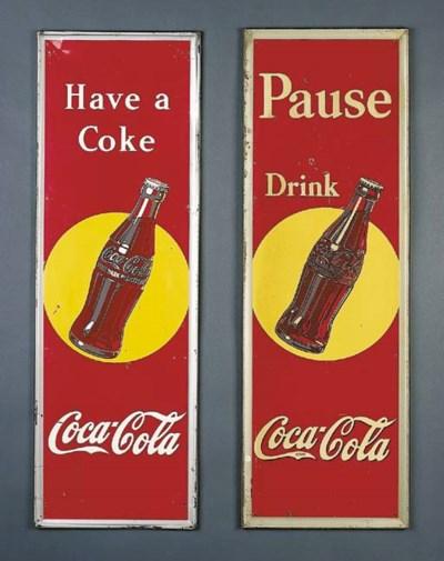 TWO COCA-COLA SIGNS