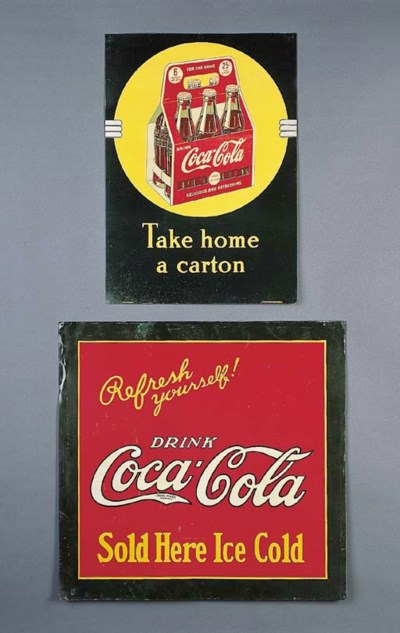 TWO COCA-COLA SIGNS