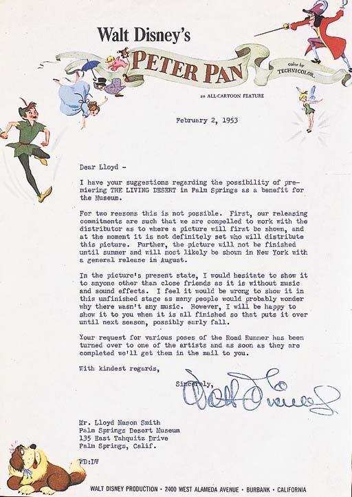 DISNEY, Walt.