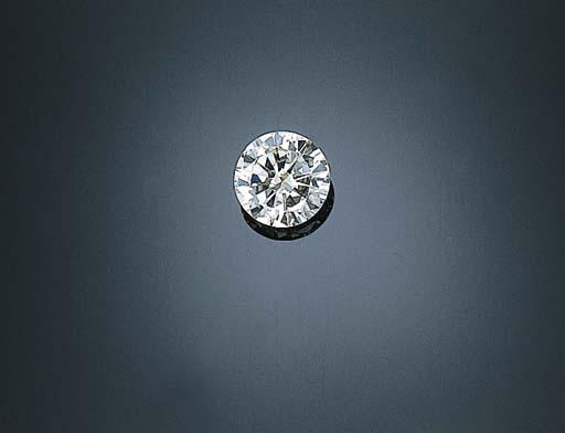 AN UNMOUNTED CIRCULAR-CUT DIAMOND