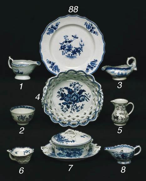 A LIVERPOOL PORCELAIN TEA BOWL