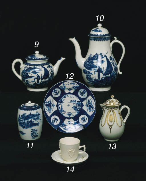 A CAUGHLEY TEAPOT AND COVER