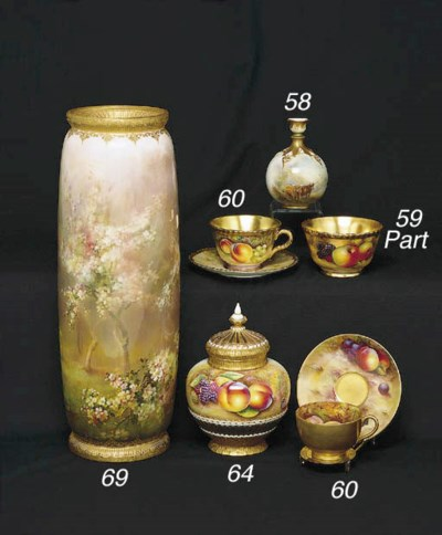TWO ROYAL WORCESTER CUPS AND S