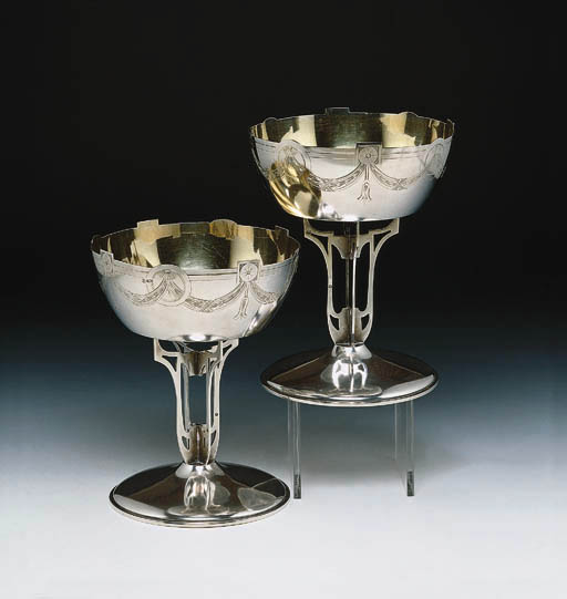 A PAIR OF RUSSIAN SILVER COMPO