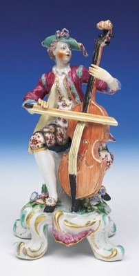 A BOW FIGURE OF A CELLIST