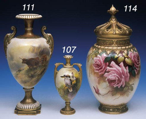 A ROYAL WORCESTER OVOID POT PO