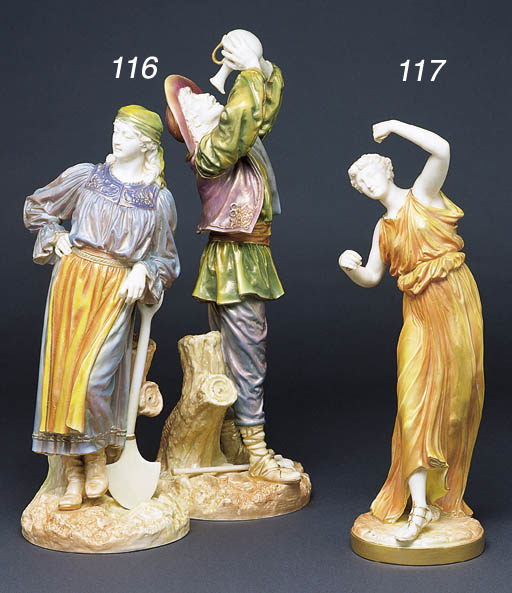 A ROYAL WORCESTER FIGURINE OF