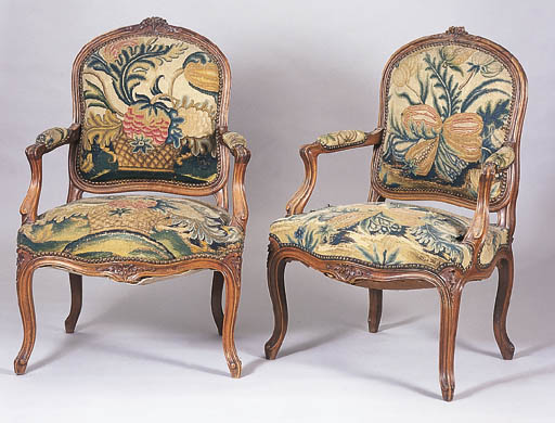 A SET OF FOUR LOUIS XV STYLE W