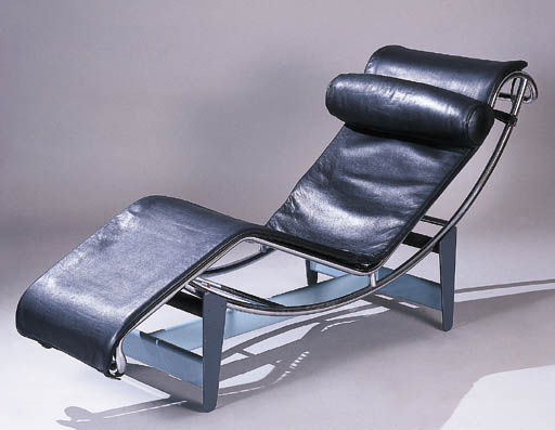 A CASSINA BLACK LEATHER AND CH