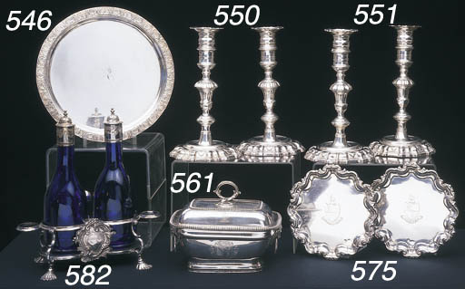 A GEORGE III STERLING SILVER R