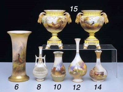 A ROYAL WORCESTER PEAR SHAPED