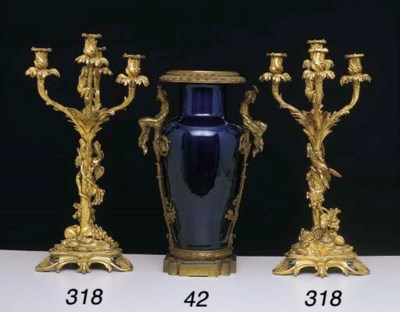 A FRENCH PORCELAIN AND GILTMET