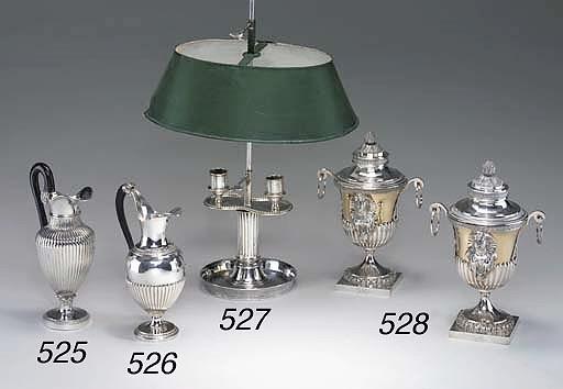 LAMPE DE BUREAU EN METAL ARGEN
