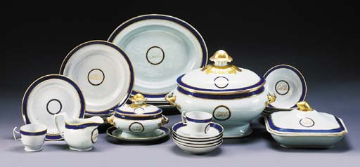 A CHINESE EXPORT BLUE ENAMEL A
