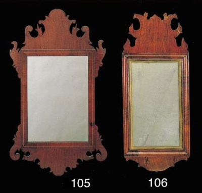 A CHIPPENDALE INLAID MAHOGANY