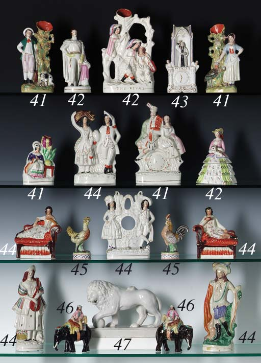 EIGHT STAFFORDSHIRE POTTERY FI
