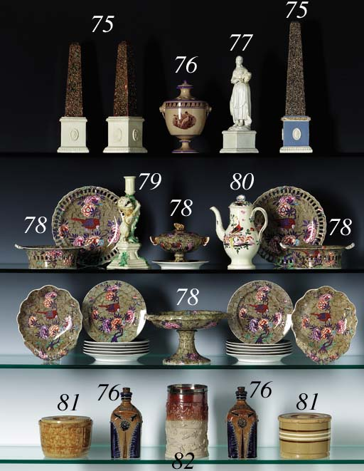 A PAIR OF ENGLISH PEARLWARE OB