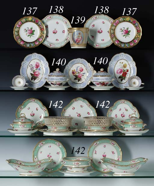 SIXTEEN DERBY PLATES AND FOUR