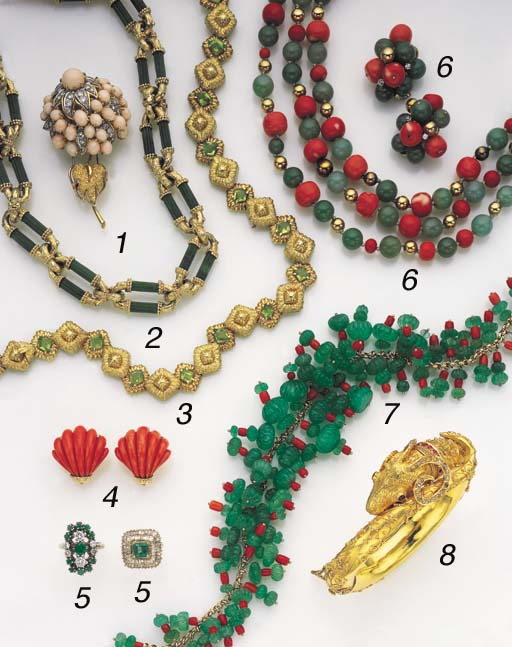 A SUITE OF 18K GOLD AND PERIDO
