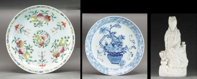 A THREE CHINESE PORCELAIN ITEM