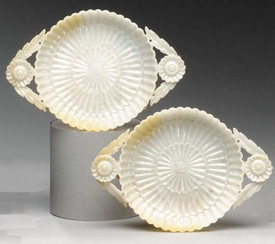 A PAIR OF MUGHAL STYLE JADEITE