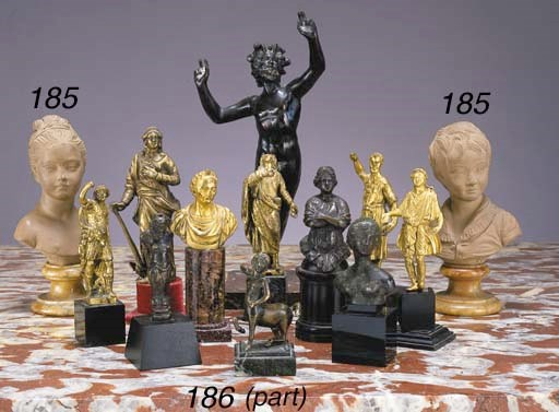 A GROUP OF ITALIAN BRONZE AND