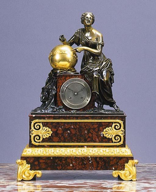 A Napoleon III ormolu, patinat