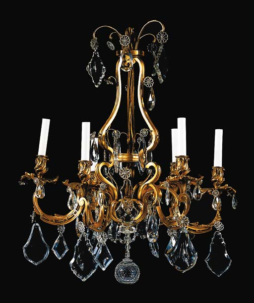 A Louis XV style ormolu and cu