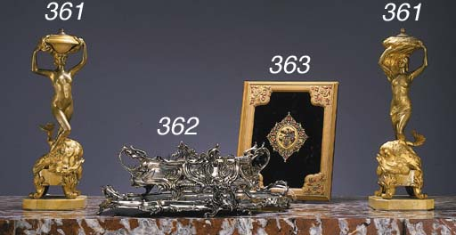 A Louis XV style silvered-bron