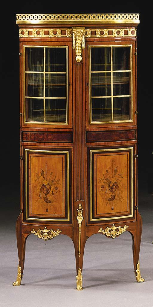 A Transitional style mahogany,