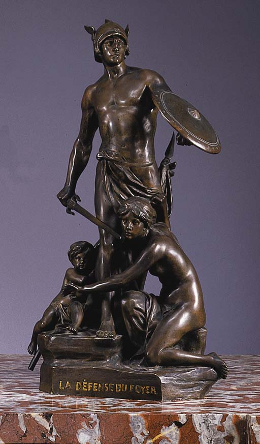 A French bronze figure group e