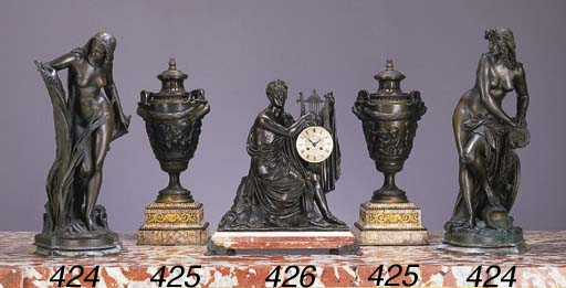 Two French bronze figures, ent